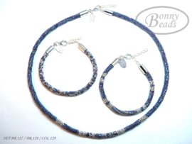 Set 2x armbanden en 1x collier BR 127 - BR 128 - COL 129