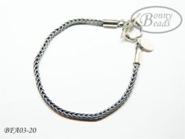 Antiek zilveren wissel armband 20 cm
