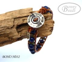 Armband met leer BOHO H032