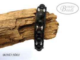 Armband met leer BOHO H001