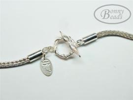 Zilveren wissel collier 55 cm
