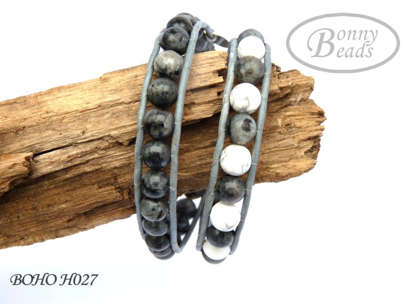 Wrap armband met leer BOHO H027