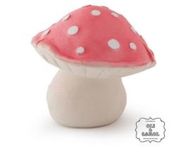 Oli&Carol bad- en bijtspeeltje paddenstoel