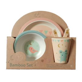 Bamboe serviesset roze