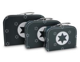 Koffer set 3 stuks Navy met ster