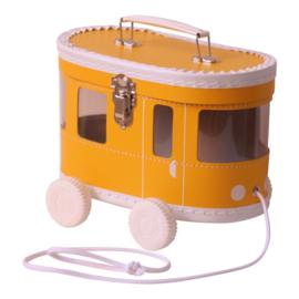 Tramkoffertje oker geel
