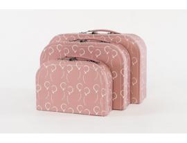 Koffer set 3 stuks Ballon roze