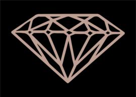 Diamant   Rosé Gold FolieDruk