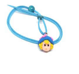 Blauwe skwairlie ketting