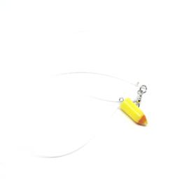 Choker met mini geel kleurpotlood