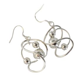 Zilver plated oorhangers