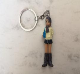Modern meisje sleutelhanger