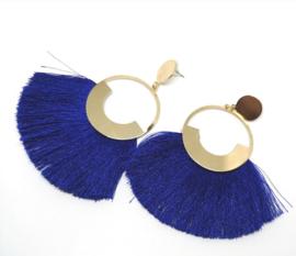 Donkerblauwe oorringen