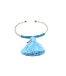 Blauwe cuff armband