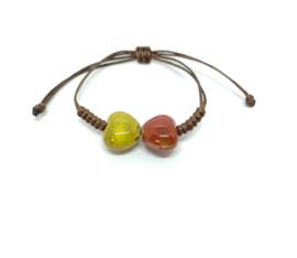 Armband met twee hartjes