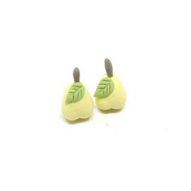 Gele stud oorbellen