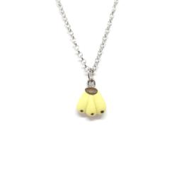 Schakelketting minimalistisch met mini gele hanger