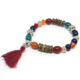 Kleurrijke kralen armband