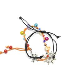 Oranje armbanden - setje