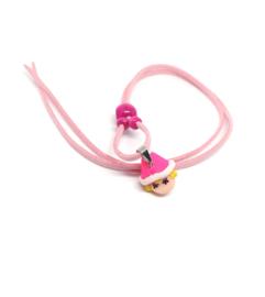 Skwairlie ketting in roze kleur