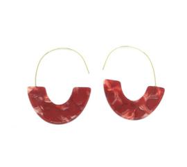Rode oorhangers