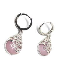 Roze oorhangers-Sterling Silver 925