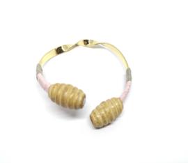 Goudkleurige cuff armband