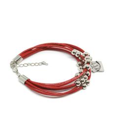 Rode armband met I love you tekst