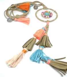 Lederen halsketting voor vrouwen