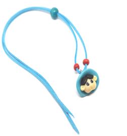 Skwairlie ketting in blauwe kleur