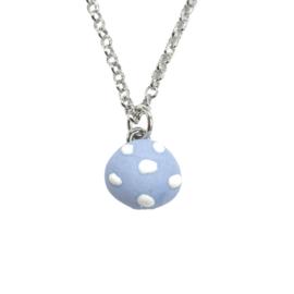 Minimalistische dames ketting met blauw hanger