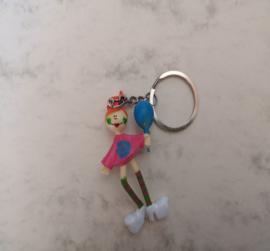 Roze sleutelhanger