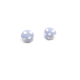 Blauwe paddestoelvormige oorbellen