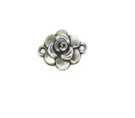 Bedeltje connector in de vorm van bloemetje