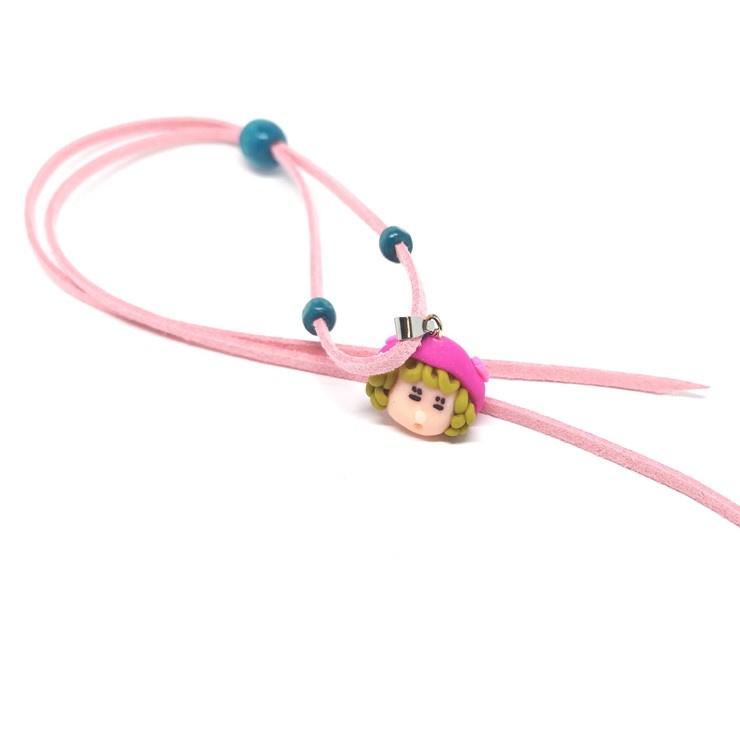 Roze ketting voor kleine meisjes