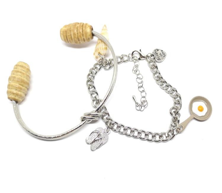 Cuff armband en schakelarmband - Een set