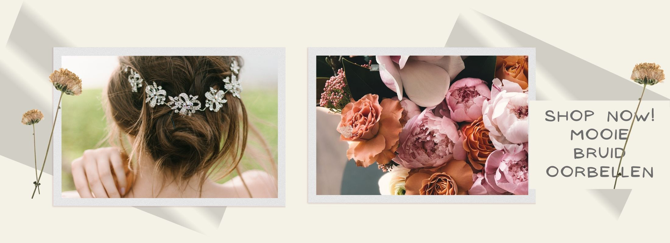 Bruid oorbellen