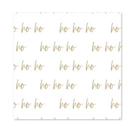 Inpakpapier   White Ho Ho Ho   Per 10 rollen