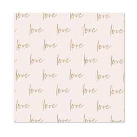Inpakpapier per 10 rollen   Pink & Brown LOVE