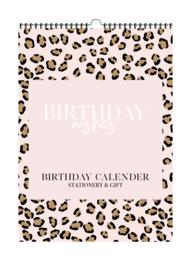 Verjaardagskalender 'Pink Leopard' | Per 5 stuks