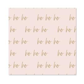 Inpakpapier | Ho Ho Ho | Per 10 rollen