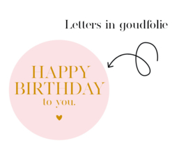 500 stickers   Happy Birthday to you    SOFT pink