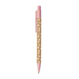 Pen | Pink & Some cute Brown Dots  | Per 5 stuks