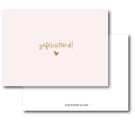 Minikaart Gefeliciteerd!   Per 6 stuks