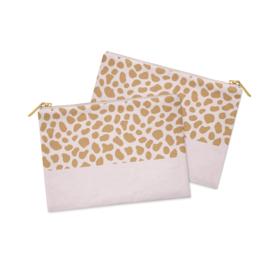 Cosmetic Bag / Etui | Pink Cheetah  | Per 5 stuks