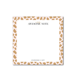 Awesome Daily Notes | Pink Cheetah | Notes per 6 stuks