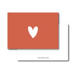Minikaart HEART   Per 6 stuks