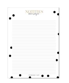 Schrijfblok A4   Zwart/Wit Notities