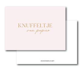 Minikaart Een knuffeltje van papier  | Per 6 stuks