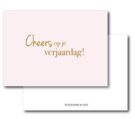 Minikaart Cheers! | Per 6 stuks